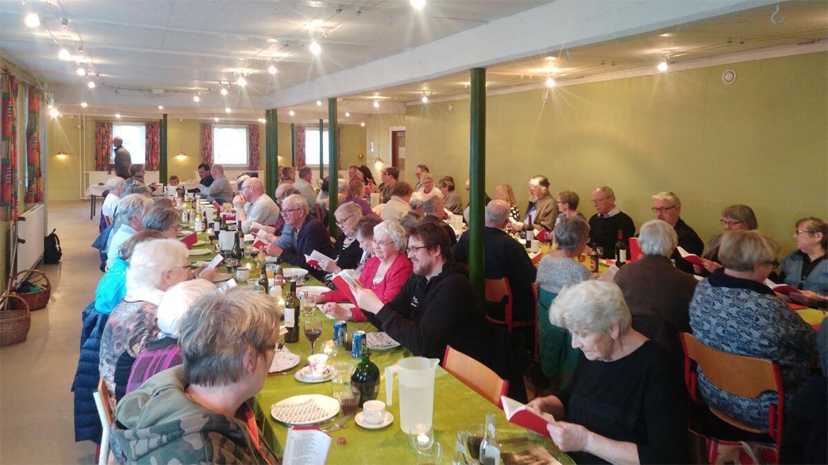 Fællesspisning 31. jan. - endnu en hyggelig aften på Holmegaarden